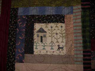 picture of message on quilt