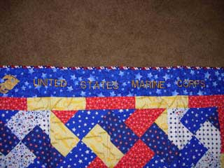 picture of detail on quilt