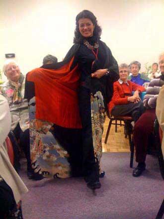 Carolle LeMonnier models kimono
