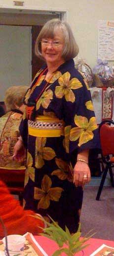 Janice Rodgers models kimono